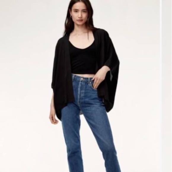 Aritzia Sunday Best Black Cosima Kimono Cardigan